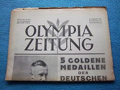 Orig.PRG / Newsletter  Olympic Games BERLIN 1936 - 12.08. / all Events  !!  RARE