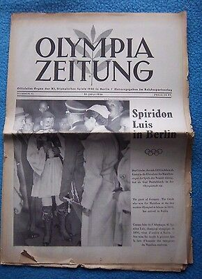 Orig.PRG / Newsletter  Olympic Games BERLIN 1936 - 31.07. // Preview  !!  RARE