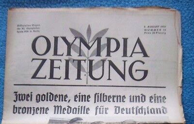 Orig.PRG / Newsletter  Olympic Games BERLIN 1936 - 03.08. / all Events  !!  RARE