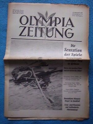 Orig.PRG / Newsletter  Olympic Games BERLIN 1936 - 15.08. / all Events  !!  RARE