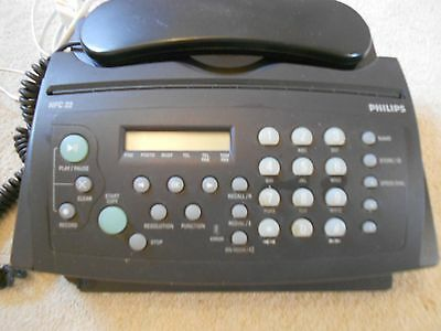PHILIPS FAX MACHINE - HFC 22 / with answering machine and manual