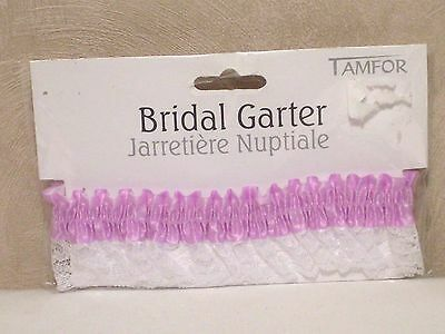 NEW Bridal Garter Throw Away Lavender Colored PLUS SIZED