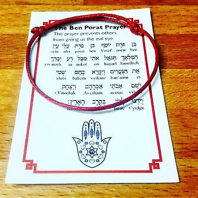 2 SET RED STRING ORIGINAL KABBALAH BRACELET Ben Porat evil eye ISRAEL+ GIFT!