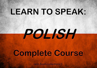 Learn To Speak Polish Fast - Language Course - 3 Hrs Audio Mp3 + Book All On Dvd