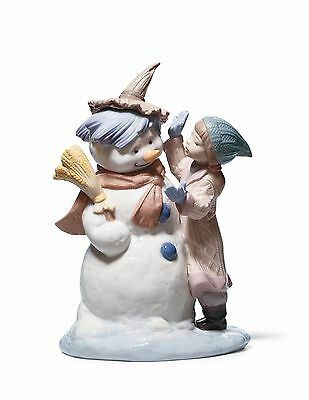 Lladro Christmas Snowman Girl 01008168 Talk To Me New In Box