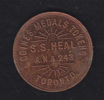 Numismatic Card - Mc 843. Coins, Medals, Tokens/ S.S. Heal/ A.N.A. 243/ Toronto