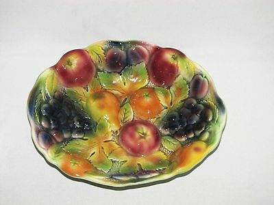 Vintage SylvaC Ware Pottery Fruit Decorated Bowl Made in England