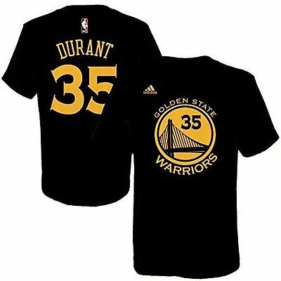 Golden State Warriors # 35 Kevin Durant NBA Basketball Adidas Logo T-Shirt  L
