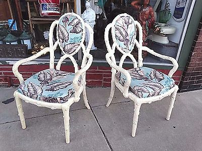 Vintage Hollywood Regency Tree truck branch style framed arm chair 2 available