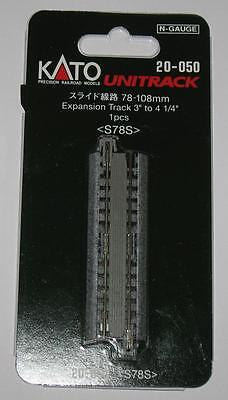 """N Kato Unitrack® 20-050 20050 Expansion Track 3"""" to 4¼"""" (78-108mm) 20% OFF NEW"""