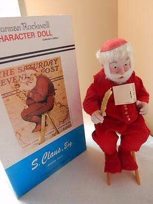 Norman Rockwell (HTF) Rumble Seat Santa Claus Character Doll - Collector's Edit