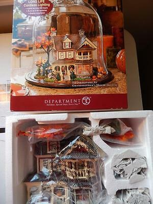 Department 56 (NEW) Thanksgiving at Grandmother's House - Set of 12 (3-D Scene)