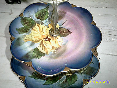 Absolutely Beautiful Vintage Royal Winton Grimwades 2 tier cakestand