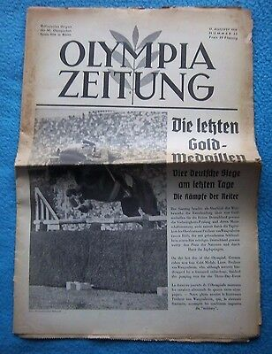 Orig.PRG / Newsletter  Olympic Games BERLIN 1936 - CLOSING CEREMONY  !!  RARE