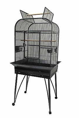 """NEW 26"""" Premium Open Top Parrot Cage with Stand for small medium bird parrot"""