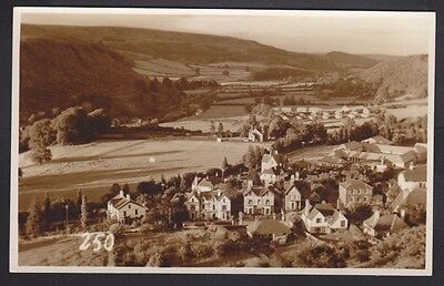 Radnorshire Knighton Elevated View Real Photo