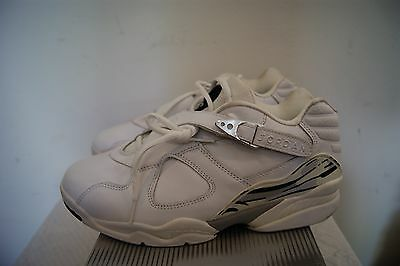 3383634341d 2003 Nike Air Jordan VIII 8 White Chrome Silver Size 9 Retro Low 306157