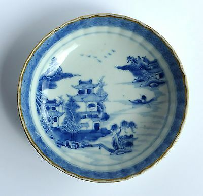 Blue And White Chinese Porcelain dish or bowl, 19th century