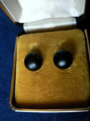 Antique Victorian Mourning Earrings  10K Rose Gold Studs