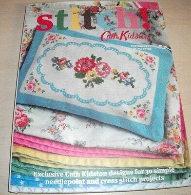 STITCH!  Cath Kidston ~ New Hardback Book ~ 30 Simple Projects for needlepoint