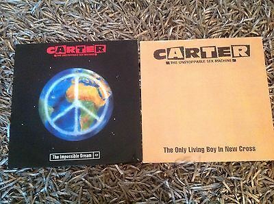 """Carter USM Only Living Boy In New Cross & Impossible Dream 12"""" Vinyl Singles"""