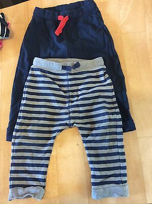 12-18 Months Boys Joggers M&S Navy / Stripy
