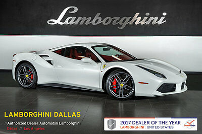 2016 Ferrari 488 GTB Base Coupe 2-Door 327K+ MSRP+CARBON RACE SEATS+CARBON CERAMICS+SHIELDS+WHITE TACH+FRONT LIFT+NAV