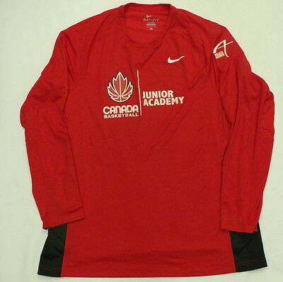 Men's Nike Dri-Fit Canada Basketball Junior Academy Long-Sleeved Jersey L - NEW
