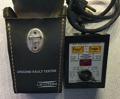 Leviton 6185 GFCI Polarity Circuit Tester with Case