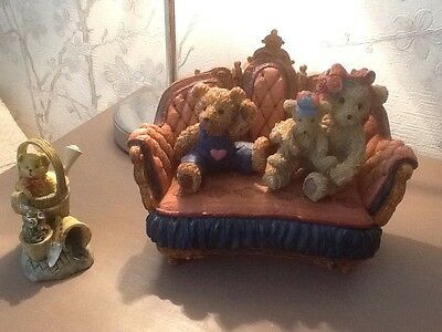 Regency Fine Arts - Homely Bears - A Lovely Cute Set + Teddy With Watering Can