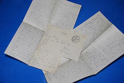 1918 World War, German Captain Field Post Vintage old Letter WWI, Antique L83