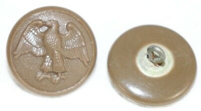 WWII US WAC Walking Eagle brown OverCoat Button 1 1/8in 28mm 50L lot of 2 B1922