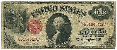 1917 $1 Large Size Legal Tender Note. VG/F