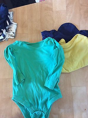 12-18 Months Boys Long Sleeve Vests Navy/Green/ Yellow
