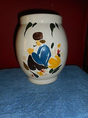 Mccoy Dutch Boy Cookie Jar 1945 Art Pottery No Lid Hand Decorated Ex Condition