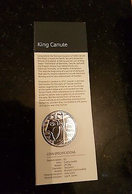 2017 King Canute Five Pound Coin £5 BU Uncirculated