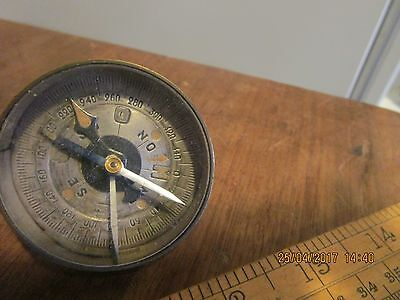 Antique / WW1 era Officers Private Purchase Compass .2in.Pocket Compass