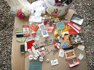Vintage sewing items -packets of Sewing needles / machine needles / Singer parts