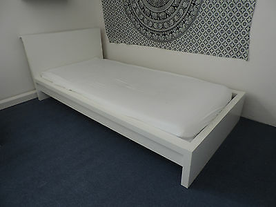bettgestell ikea wei matratze 90x200 lattenrost eur On bettgestell weiß 90x200