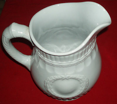 Antique Ironstone Pitcher,Laural Wreath,Victory,Elsmore & Forster,Turnsall,1860s