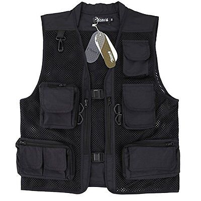 Zicac Men Mesh Breathable Outdoor Photography Camping Hunting Fishing Vest