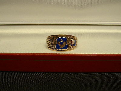 "Vintage 14K Solid Gold Masonic ""arm & Hammer"" Mens Ring! Rare & Desireable!"