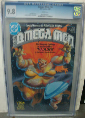OMEGA MEN #35 cgc 9.8 The New Teen Titans Appearance