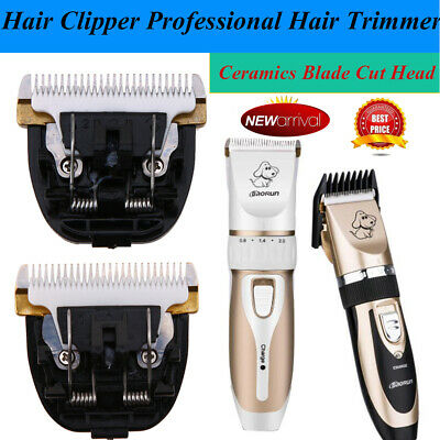 Professional Mute Pet Cat Dog Fur Hair Cordless Trimmer Clipper Shaver Set Kit