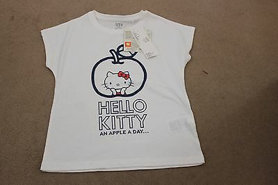 Girls Hello Kitty Uniqlo T-Shirt Age 7-8 Years Brand New With Tags