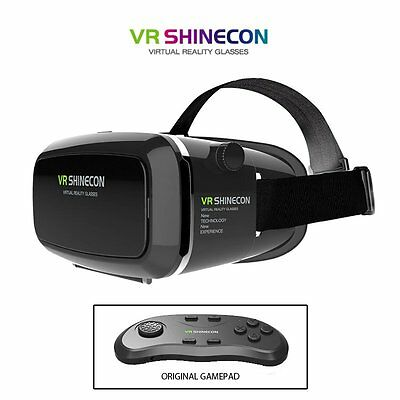 2017 3D VR Headset SHINECON Virtual Reality Movie Game Glasses With Gamepad