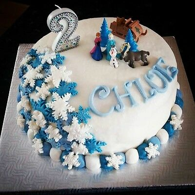 Frozen Birthday Candle Cake Topper (all numbers available)