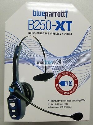 Blue Parrot B250-XT USB Bluetooth Wireless Trucker Headset VXI Phone Parrott NEW