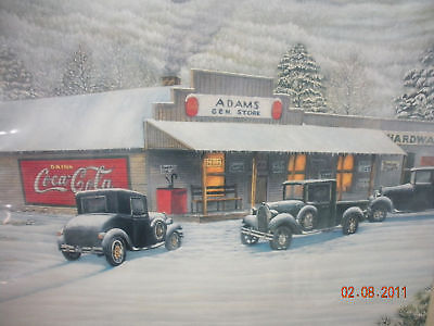 """Coca-Cola / Jim Simpson """"Roane Co."""" General Store - SIGNED & NUMBERED!"""