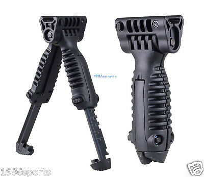 Foldable Foregrip Bipod 20mm Picatinny Rail Quick Release Mount for Rifle 00284